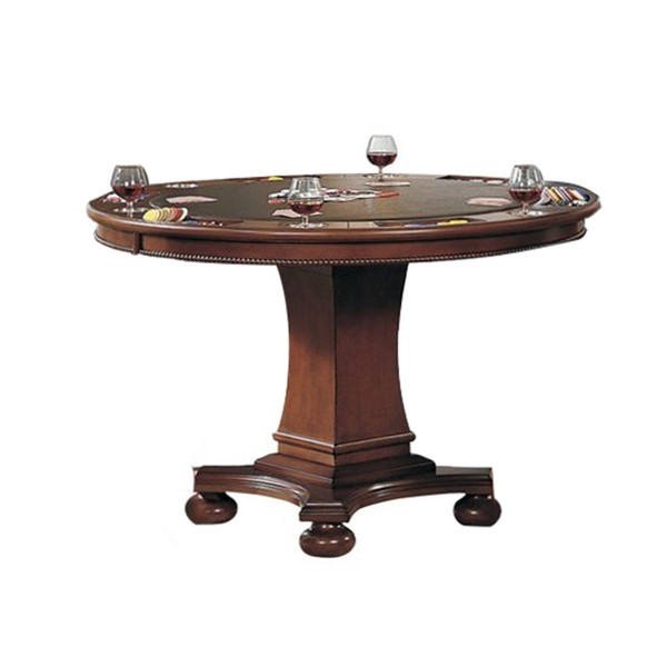 Sunset Trading Bellagio Distressed Brown Cherry Dining and Poker Table SST-CR-87148-63-TB