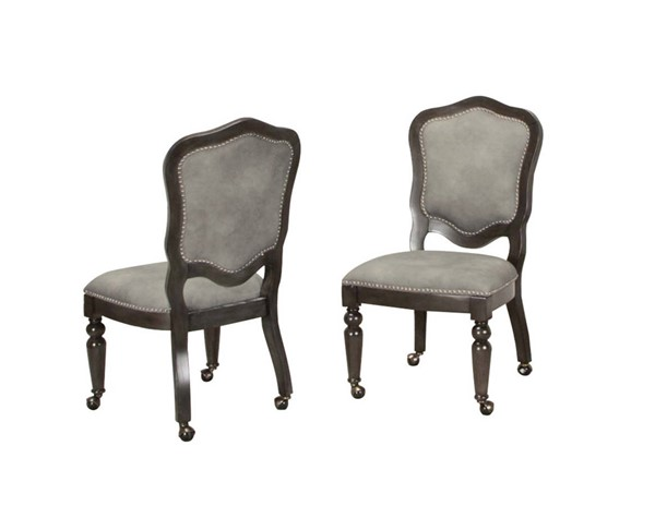 2 Sunset Trading Vegas Gray Gaming and Dining Chairs SST-CR-87711-2