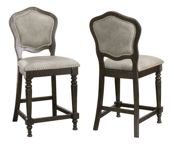 2 Sunset Trading Vegas Distressed Grey Counter Height Bar Stools SST-CR-87711-24-2