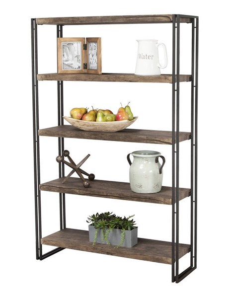 Sunset Trading Dawson Brown Gray Black Reclaimed Elm Bookcase SST-CR-P2089-73