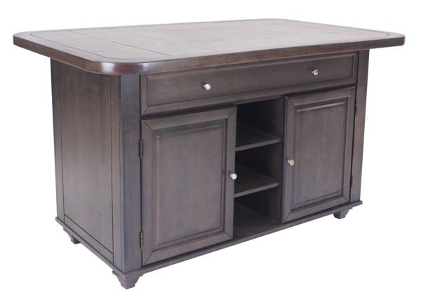 Sunset Trading Shades of Weathered Grey Kitchen Island SST-CY-KITT02-AG