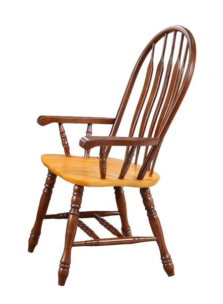 Sunset Trading Selections Walnut Light Oak Comfort Dining Arm Chair SST-DLU-4130-NLO-A