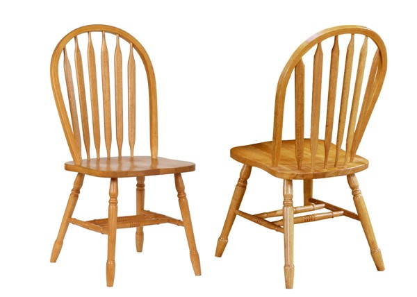 2 Sunset Trading Selections Light Oak Arrowback Dining Chairs SST-DLU-820-LO-2