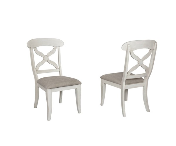 Sunset Trading Andrews Antique White Cushions Dining Chairs SST-DLU-ADW-C12-DCH-VAR