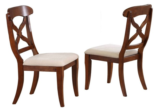 2 Sunset Trading Andrews Chestnut Cushions Dining Chairs SST-DLU-ADW-C12-CT-2