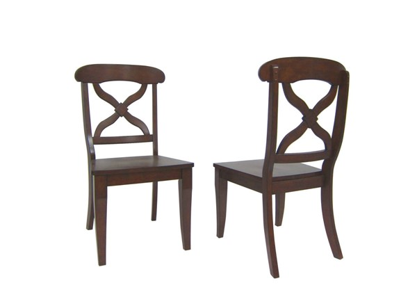 2 Sunset Trading Andrews Chestnut Dining Chairs SST-DLU-ADW-C12WD-CT-2