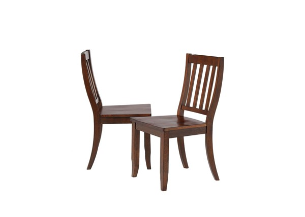 2 Sunset Trading Andrews Chestnut School House Dining Chairs SST-DLU-ADW-C20-CT-2