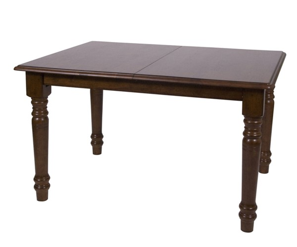 Sunset Trading Andrews Distressed Chestnut Brown 60 Inch Dining Table SST-DLU-ADW3660-CT