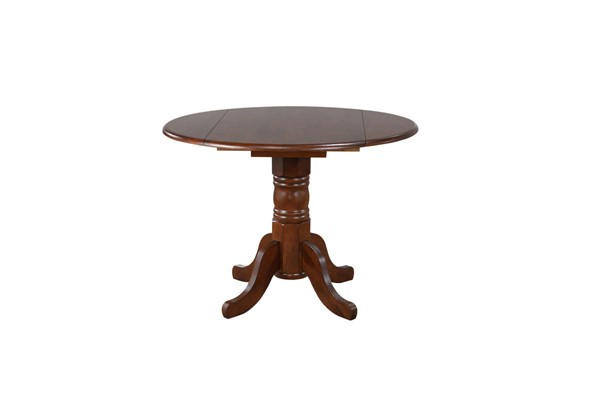 Sunset Trading Andrews Chestnut Round Drop Leaf Dining Table SST-DLU-ADW4242-CT