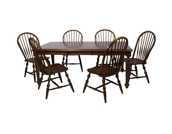 Sunset Trading Andrews Chestnut Butterfly Leaf 7pc Dining Set SST-DLU-ADW4276-C30-CT7PC