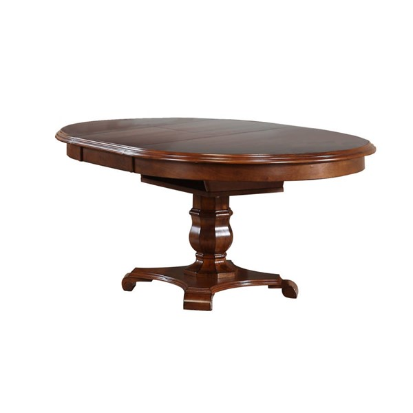 Sunset Trading Andrews Chestnut Oval Butterfly Leaf Dining Table SST-DLU-ADW4866-CT