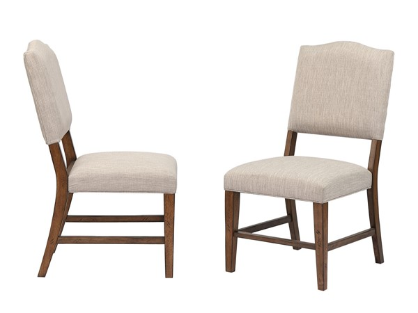 2 Sunset Trading Simply Brook Brown Upholstered Dining Chairs SST-DLU-BR-C85-AM-2