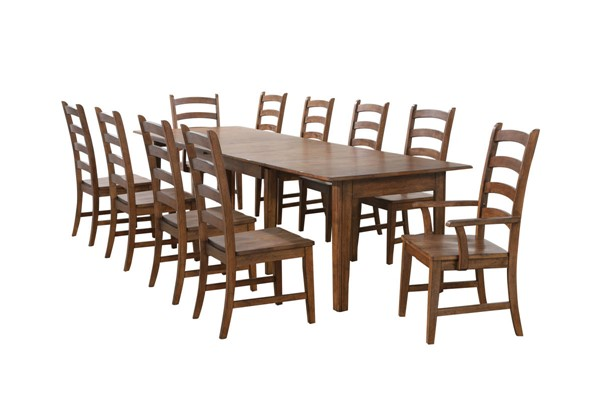 Sunset Trading Simply Brook Brown Rectangular Extendable 11pc Dining Set SST-DLU-BR134-AM11PC