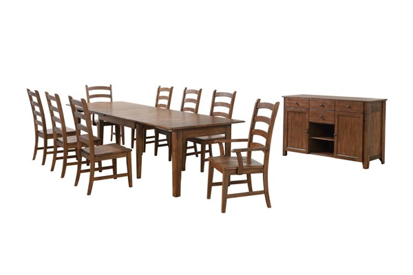 Sunset Trading Simply Brook Brown Rectangular Extendable 10pc Dining Set SST-DLU-BR134-AMSB10PC