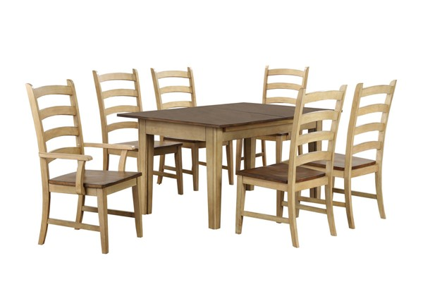 Sunset Trading Brook Wheat Pecan Extendable 7pc Dining Set SST-DLU-BR134-PW7PC