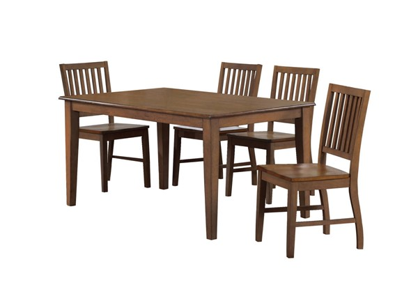 Sunset Trading Simply Brook Brown Rectangular 5pc Dining Set SST-DLU-BR3660-C60-AM5PC