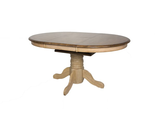 Sunset Trading Brook Wheat Pecan Oval Extendable Dining Table SST-DLU-BR4260-PW