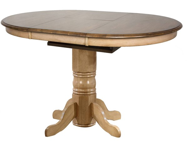 Sunset Trading Brook Wheat Pecan Oval Extendable Pub Table SST-DLU-BR4260CB-PW