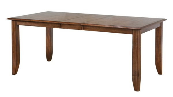 Sunset Trading Simply Brook Brown Extendable Dining Table SST-DLU-BR4272-AM