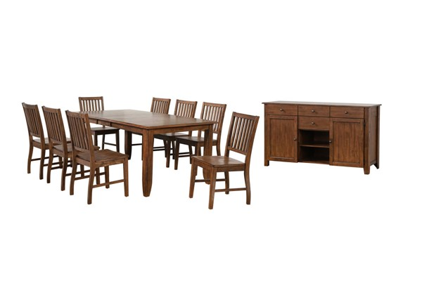 Sunset Trading Simply Brook Brown Extendable 10pc Dining Set SST-DLU-BR4272-C60-AMSB10PC