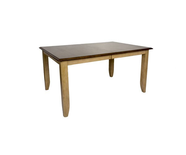 Sunset Trading Brook Wheat Pecan Extendable Dining Table SST-DLU-BR4272-PW