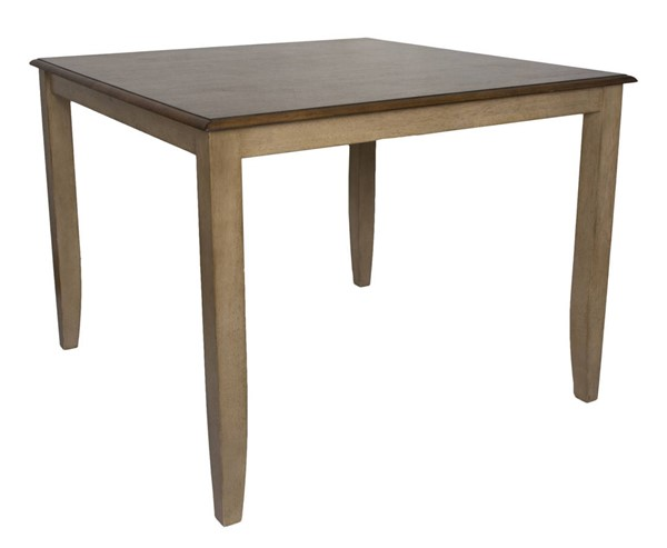 Sunset Trading Brook Wheat Pecan Square Gathering Pub Table SST-DLU-BR4848CB-PW