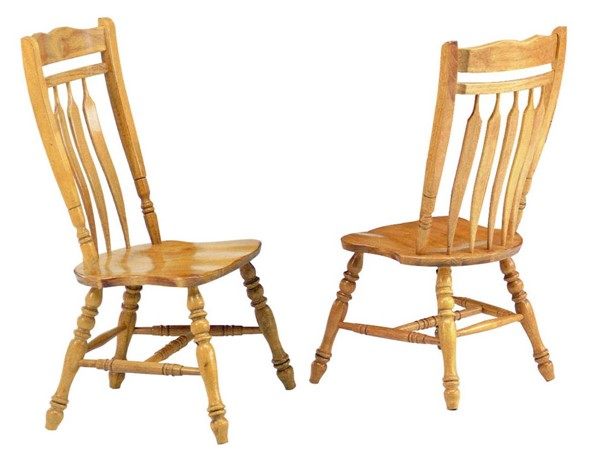 2 Sunset Trading Selections Light Oak 42 Inch Aspen Dining Chairs SST-DLU-C10-LO-2