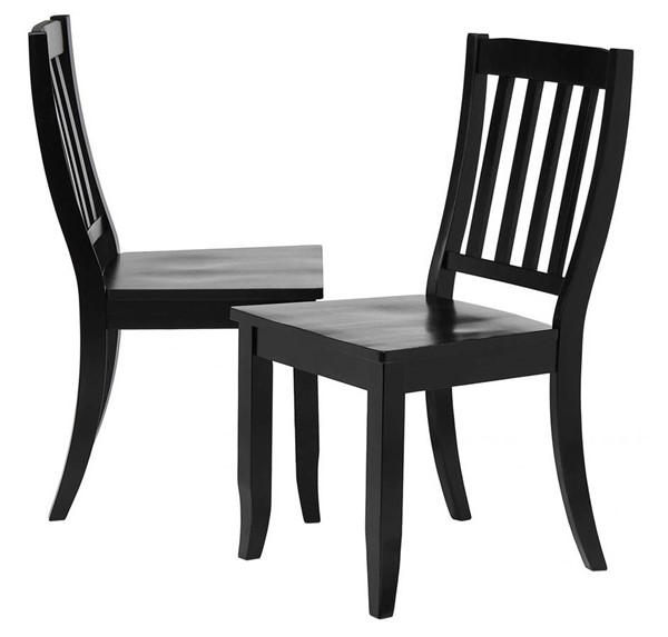 2 Sunset Trading Antique Black Cherry School House Dining Chairs SST-DLU-C20-AB-2