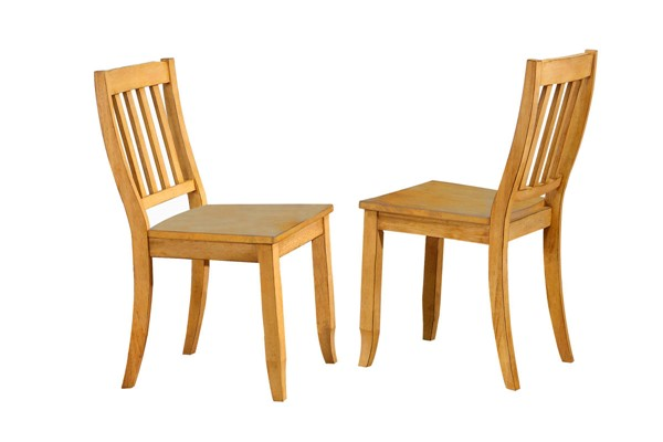 2 Sunset Trading Selections Light Oak School House Dining Chairs SST-DLU-C20-LO-2