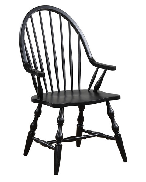 Sunset Trading Black Cherry Antique Dining Arm Chair SST-DLU-C30A-AB