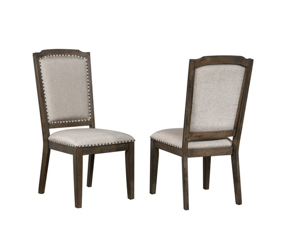 2 Sunset Trading Cali Gray Brown Dining Chairs SST-DLU-CA-C113-2