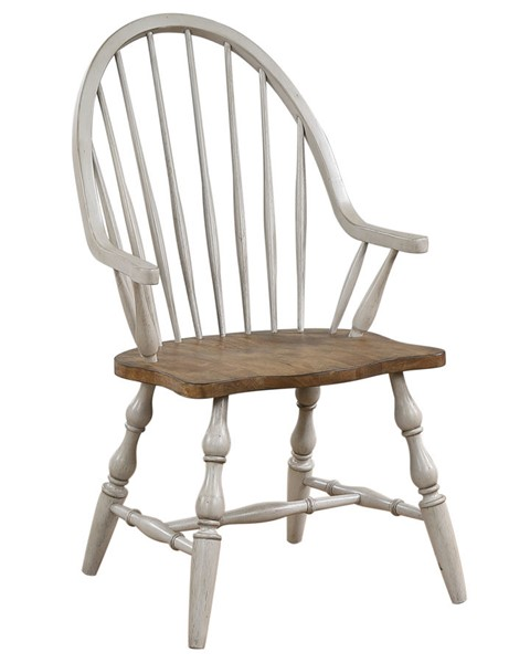 Sunset Trading Country Grove Distressed Light Gray Walnut Windsor Dining Arm Chair SST-DLU-CG-C30A-GO