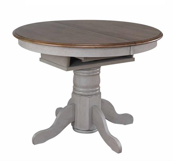 Sunset Trading Country Grove Distressed Light Gray Walnut Extendable Dining Table SST-DLU-CG4260-GO