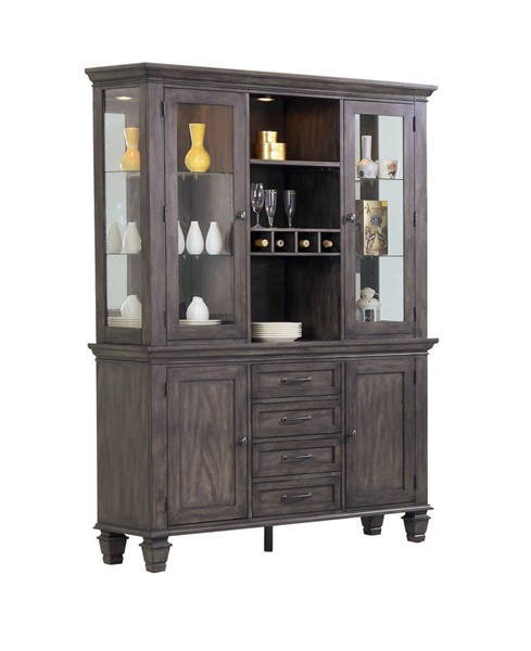 Sunset Trading Shades of Weathered Grey China Cabinet SST-DLU-EL-BH