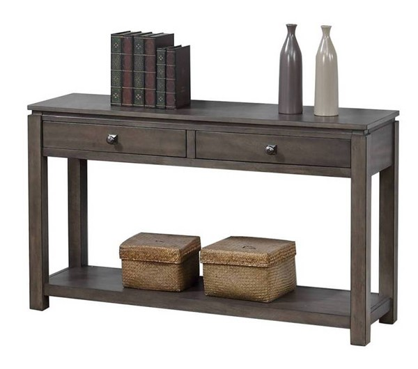 Sunset Trading Shades of Weathered Grey Drawers and Shelf Sofa Console SST-DLU-EL1604