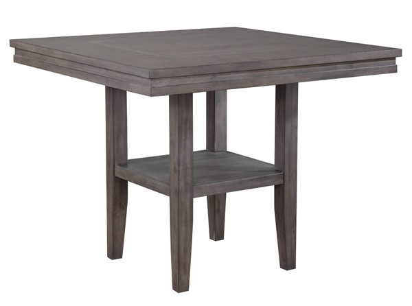 Sunset Trading Shades of Weathered Grey Square Pub Table with Shelf SST-DLU-EL4545C