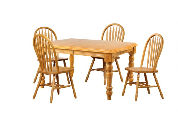 Sunset Trading Selections Light Oak Extendable 5pc Dining Set with Arrowback Chairs SST-DLU-SLT4272-820-LO5PC