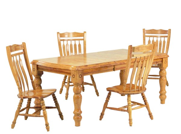 Sunset Trading Selections Light Oak Extendable 5pc Dining Set with Aspen Chairs SST-DLU-SLT4272-C10-LO5PC