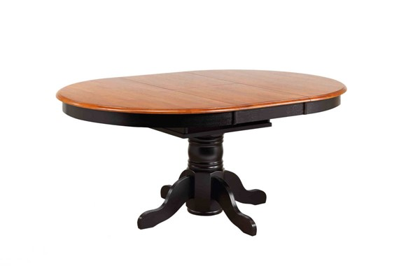 Sunset Trading Antique Black Cherry Pedestal Butterfly Top Dining Table SST-DLU-TBX4266-BCH