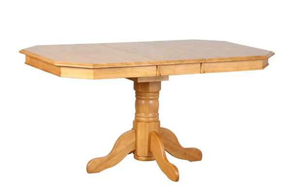 Sunset Trading Selections Light Oak Pedestal Extendable Dining Tables SST-DLU-TCP3660-DT-VAR
