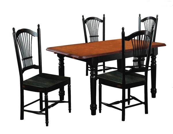 Sunset Trading Antique Black Cherry Butterfly 5pc Dining Set with Allenridge Chairs SST-DLU-TLB3660-C07-AB5PC