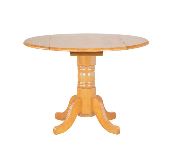 Sunset Trading Selections Light Oak Round Drop Leaf Dining Tables SST-DLU-TPD4242-DT-VAR