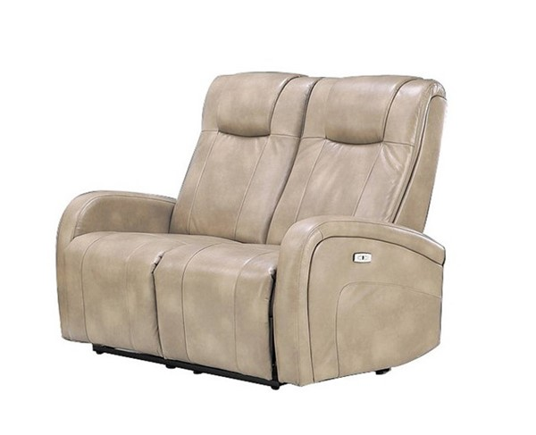Sunset Trading Easy Living Swiss Cream Dual Reclining Loveseat with USB SST-EL-9083L015P