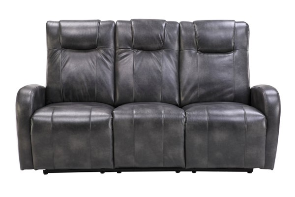 Sunset Trading Easy Living Swiss Grey Dual Reclining Sofa with USB SST-EL-9083S068P