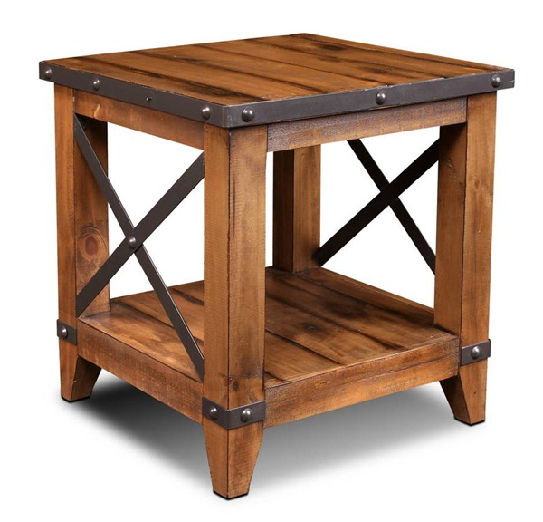 Sunset Trading Rustic City Natural Oak End Table SST-HH-1365-100