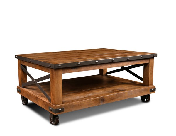 Sunset Trading Rustic City Natural Oak Coffee Table SST-HH-1365-200