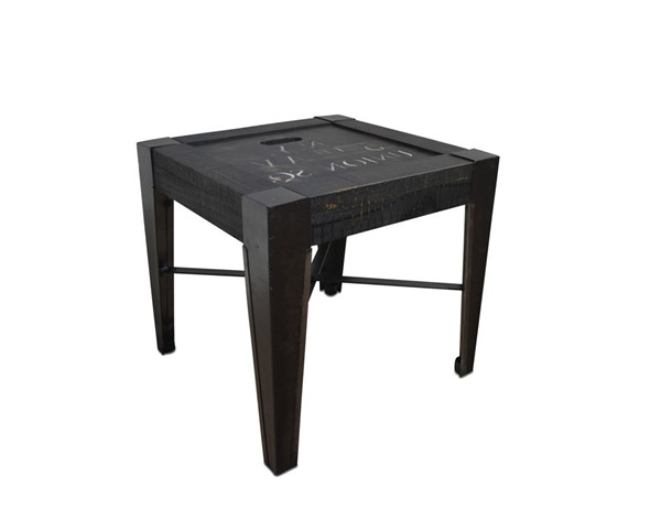 Sunset Trading Graphic Black End Table SST-HH-1725-100