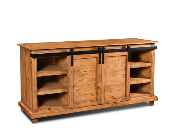 Sunset Trading Rustic Barn Natural Oak Door TV Stand SST-HH-2021-066