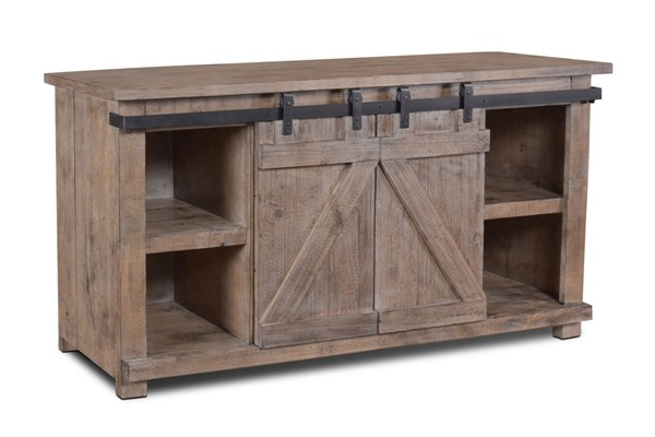 Sunset Trading Stowe Gray Door Console TV Stand SST-HH-2115-060