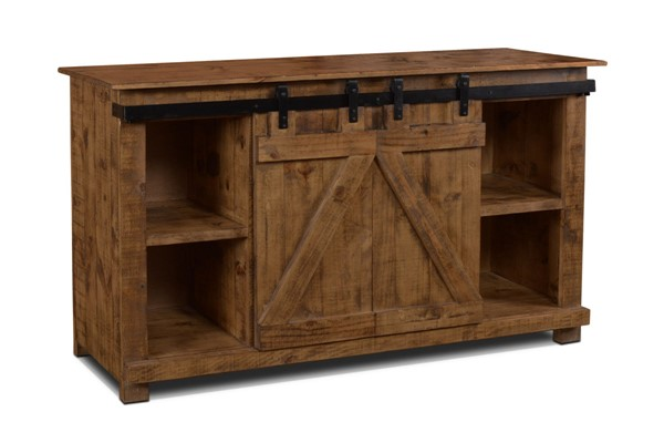 Sunset Trading Stowe Brown Door Console TV Stand SST-HH-2975-060